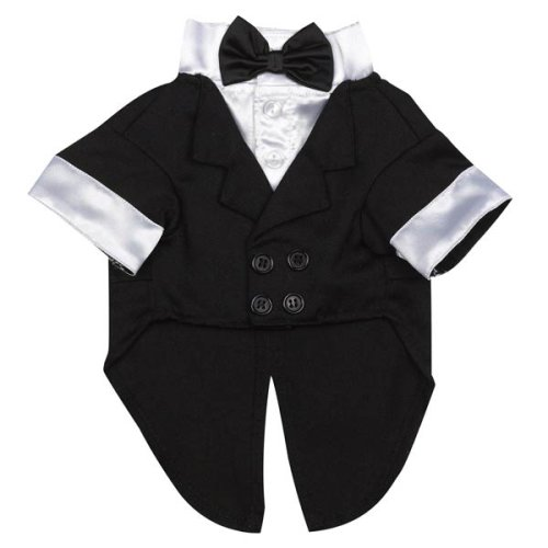 Yappily Ever After Dog Groom Tuxedo - Small, 12 inches