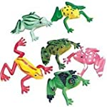 Pack of 12 - Small Rubber Frogs - Gre...