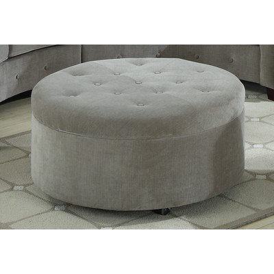 Emerald Home Channing Round Button Tufted Ottoman