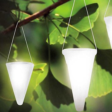 1Pcs White Led Solar Garden Light
