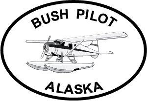 Alaska Bush Pilot Euro Oval Bumper Sticker (Universal Bush Bumper compare prices)