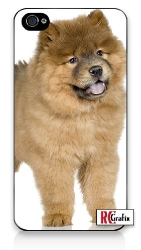 Premium Direct Print Happy Chow Chow Puppy Dog Animal iphone 6 Quality Hard Snap On Case for iphone 6/Apple iphone 6 - AT&T Sprint Verizon - White Case PLUS Bonus RCGRafix The Best Iphone Business Productivity Apps Review Guide