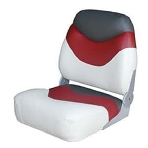 Wise Deluxe High-Back Seat (Cuddy Brite White/Cuddy Dark Red/Cuddy Charcoal)