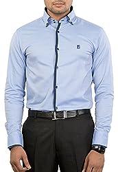 Unkonventional Men's Casual Shirt (unkimpskyzzl_Light Blue_40)