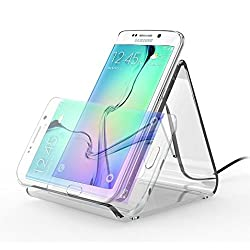 Wireless Charger, FLECK 3 Coil Charger Charging Pad [WS4] Premium Wireless Qi Charging Stand For Samsung Galaxy S7 / S7 Edge / Note 5, S6 / S6 Edge / S6 Edge+ / , and Other Qi-enabled Devices