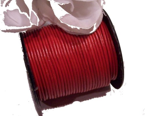 Leather Cord 1mm RED 5 Yards