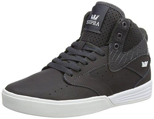 Supra KHAN, Sneaker alta Unisex - adulto, Grigio (Grau (CHARCOAL  - WHITE   CHR)), 43