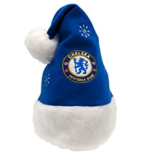 Official Chelsea FC Christmas Santa Hat - A Great Christmas Gift / Present For Men, Boys, Sons, Husbands, Dads, Boyfriends Or Any Avid Football Fan