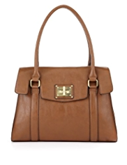 M&S Collection Chunky Turn Lock Tote Bag