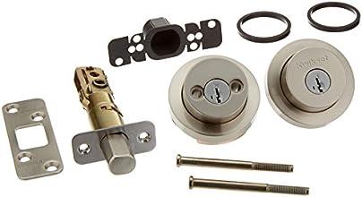 Kwikset 159 Milan Round Double Cylinder Deadbolt featuring SmartKey® in Satin Nickel