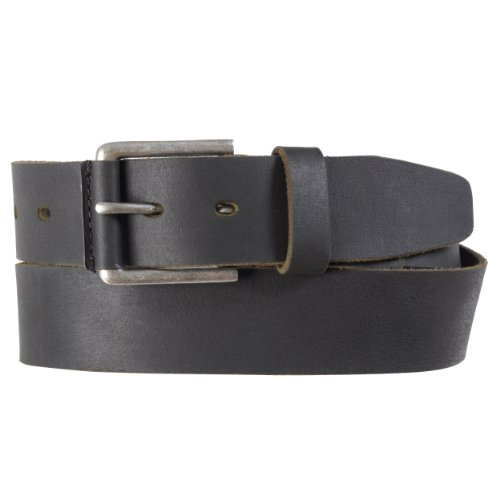 Timberland Mens Casual Distressed Genuine Leather Belt(Black,Size 36)