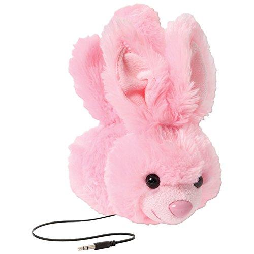 ReTrak ETAUDFBNY Animalz Tangle-Free and Volume Limiting (85 dB) Over Ear Headphones for Kids, Pink Bunny