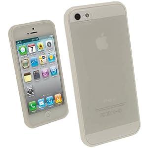 igadgitz Transparente Custodia TPU Gel Case Cover Rigida Protezione per Nuovo Apple iPhone 5 Phone 4G LTE + Protettore Schermo