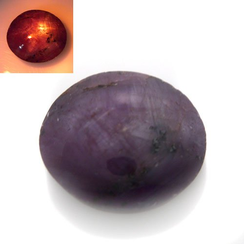 Natural Africa Light Red Star Ruby Loose Gemstone Oval Cabochon 5.20cts 9*10mm