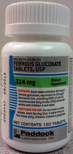 Ferrous Gluconate 324 Mg Tablets - 100 Ea