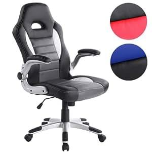 Sedia ufficio sedia da ufficio poltrona da ufficio nera for Sedia da ufficio amazon