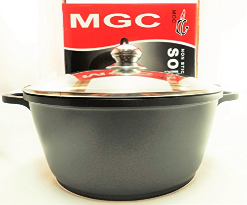 Cast Aluminum Non-Stick Dutch Oven Soup Pot with Clear Glass Lid 8 Quart (Oven Popcorn compare prices)