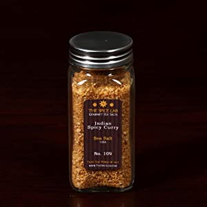 Hot Spicy Curry Infused Sea Salt - In Spice Bottle - Packaged By Thespicelab Inc by TheSpiceLab Inc.