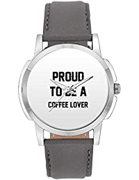 Wrist Watch For Men - Proud To Be A Coffee Lover Best Gift For COFFEE LOVER - Analog Men's And Boy's Unique Quartz...