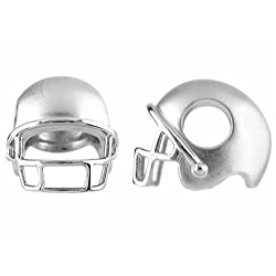 Storywheel Football Helmet Bead Charm in Sterling Silver
