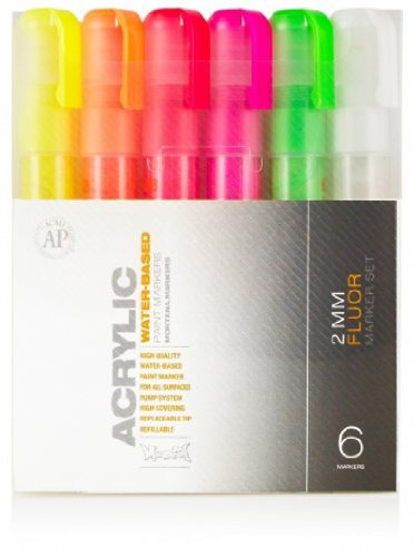 Montana Acrylic Marker Neon 6 Set 2Mm (Montana Paint Pens compare prices)