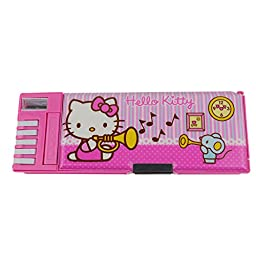 Authentic Hello Kitty Creative Multi-functional Students\' Pencil Cases KT9312 (Rose Pink)