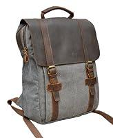 Gootium 30520 Canvas Genuine Leather Laptop BagPack