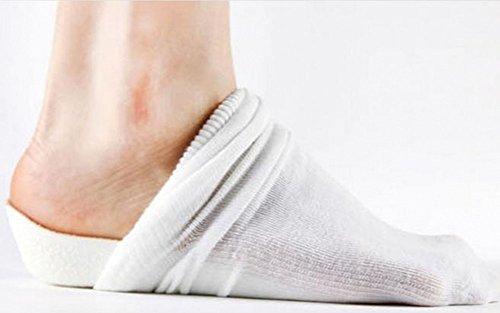 【DOLCELE】ドルセレ 靴 を 脱いでも バレない 2 cm 身長 アップ シークレット インソール 靴下 パッド