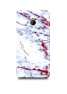 White & Red Marble HTC M7 Case