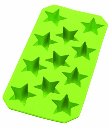 Lekue Slim Star Ice Cube Tray, Green