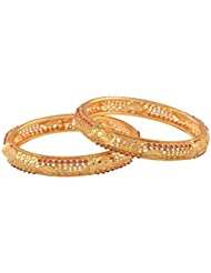 Ganapathy Gems Pink Gold Plated Bangle For Women - B01IRQHURO