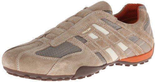 Geox UOMO SNAKE J U4207J02214C0031, Sneaker Uomo, Beige (BEIGE/DK ORANGE C0845), 42