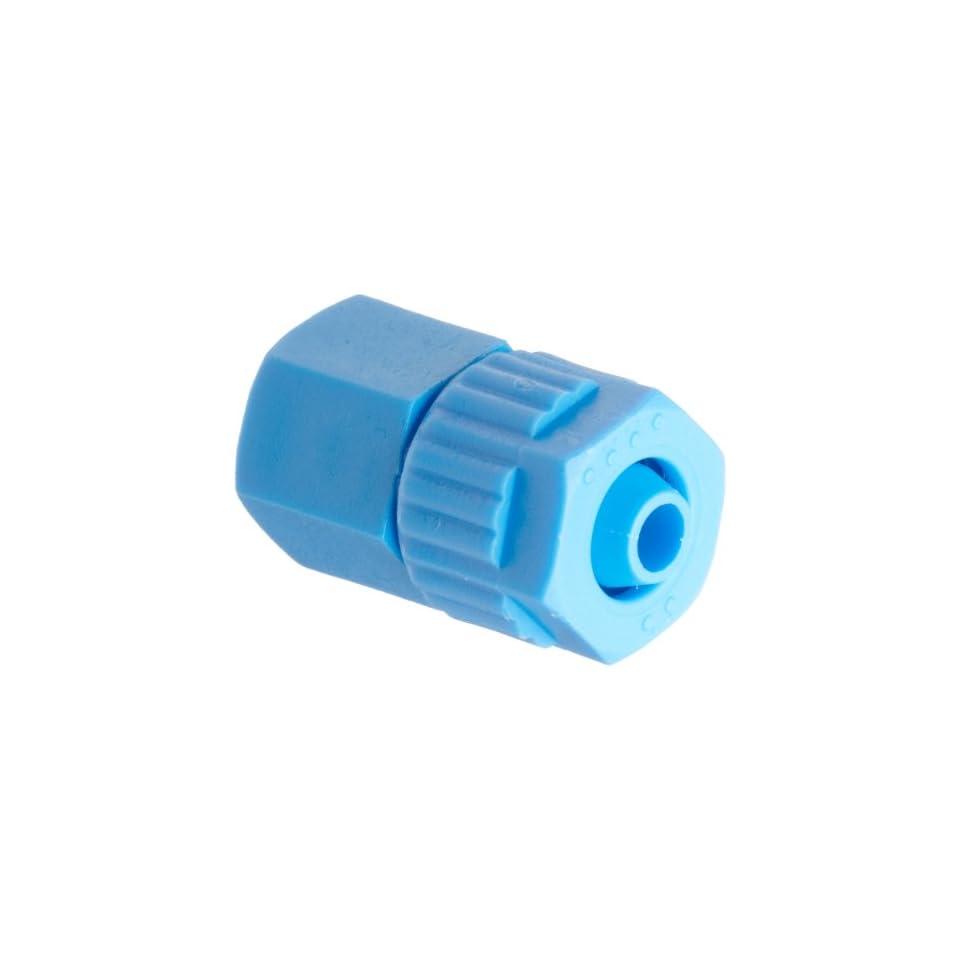 Tefen Fiberglass Polypropylene Compression Tube Fitting, Adapter, Blue, 6 mm Tube OD x 1/8 BSPT Female (Pack of 5)