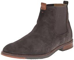 Hush Puppies Men\'s Thor Hamlin Chelsea Boot, Charcoal, 11.5 M US