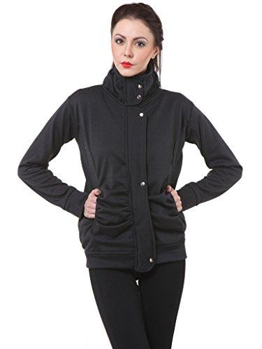 Purys Women's Winter Jacket (RF1001_Black_S)