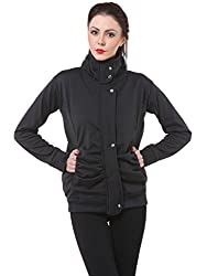 Purys Black Winter Fleece Jacket
