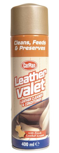 Carplan Car Leather Valet Cleaner/Conditioner + Fresh Leather Aroma 400ml LVC406
