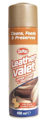 Carplan Car Leather Valet Cleaner/Conditioner + Fresh Leather Aroma 400ml LVC406