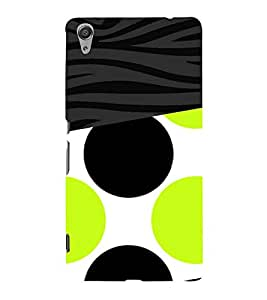 Green Black Combo Design 3D Hard Polycarbonate Designer Back Case Cover for Sony Xperia C6 Ultra