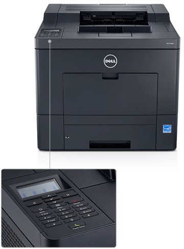 Dell - Dell Color Laser Printer C2660Dn