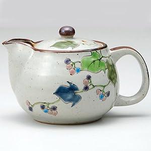 Japanese teapot wild vine with tea strainer kutani yaki ware kitchen dining - Japanese teapot with strainer ...