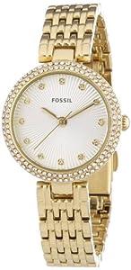 Fossil ES3346 - Reloj de pulsera mujer, revestimiento de acero inoxidable, color dorado