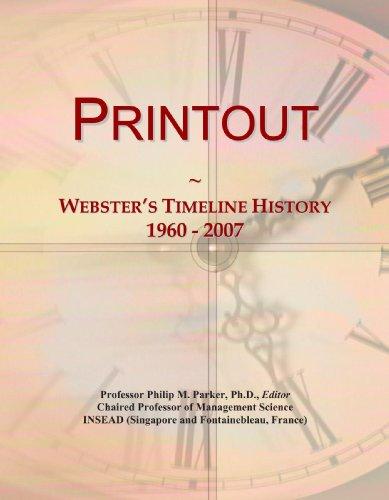 Printout: Webster's Timeline History, 1960 - 2007