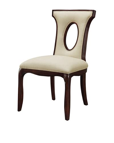 Artistic Blakemore Side Chair, Cream/Brown