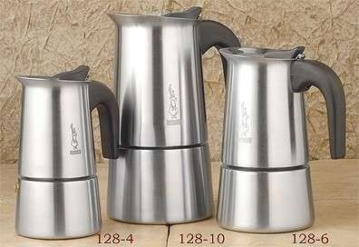 Bialetti Stainless Steel Stovetop 4 Cup Espresso Maker