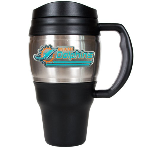 NFL Miami Dolphins 20-Ounce Travel Mug (Miami Dolphins Thermal compare prices)