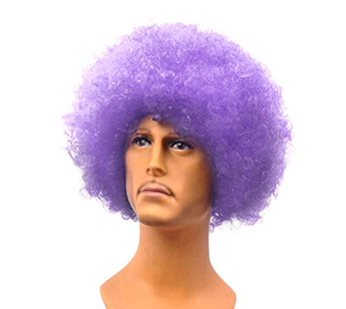 Hot Funny Halloween Party Props Performances Mesh Head Explode Wig-light Purple
