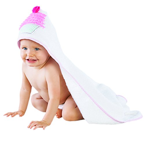 Baby Aspen Baby Cakes Hooded Spa Towel, White