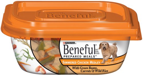 Beneful Dog Food Prepared Meals Simmered Chicken Medley Dog Food, 10-Ounce Plastic Containers (Pack of 8)