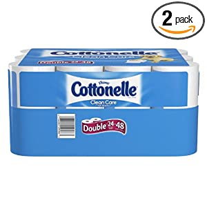 Cottonelle Clean Care Toilet Paper, Double Roll, 24-Count (Pack of 2)